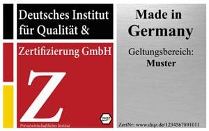 DIQZ Prüfzeichen, Gütesiegel Made in Germany